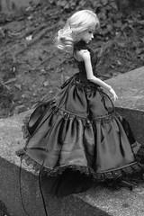 Olsany graveyard (ceressiass) Tags: blue white black grave graveyard ball doll long sad dress princess little gothic corset bjd satin elva airi msd jointed dreamingdoll
