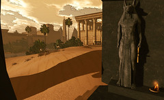 Delta Dawn (LoneSolitarian) Tags: life light shadow art nature beauty dark landscape temple photography photo 3d scenery desert egypt gimp delta romance sl fantasy secondlife virtual egyptian second faire serene sim ff firestorm relayforlife windlight fantasyfaire