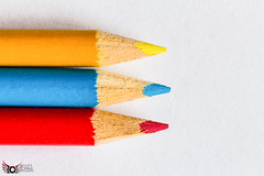 Primary Colours ((Scott Clarke)) Tags: wood blue red abstract color macro yellow pencil canon colours vivid crayon primary minimalist 700d