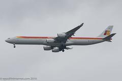 EC-KZI - 2009 build Airbus A340-642, inbound to Manchester for re-spray at Air Livery (egcc) Tags: man manchester airbus ib a340 1017 iberia lightroom ringway egcc a340600 a346 ibe miguelhernndez a340642 eckzi