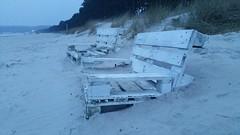 Bnke (Manuela Vierke) Tags: beach strand germany deutschland nebel bank balticsea insel rgen ostsee mrz regen bnke binz mecklenburgvorpommern 2016 meckpomm