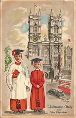 Westminster Abbey (Leonard Bentley) Tags: uk london westminsterabbey 1951 deansyard choristers westminsterschool festivalofbritain raphaeltuck canonrow cannonrow westminsterabbeychoirschool londoncharacterseries
