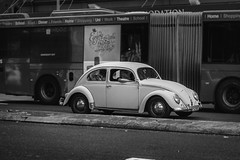 (bigboysdad) Tags: blackandwhite bw monochrome volkswagen au beetle australia monotone newsouthwales gr haymarket ricoh