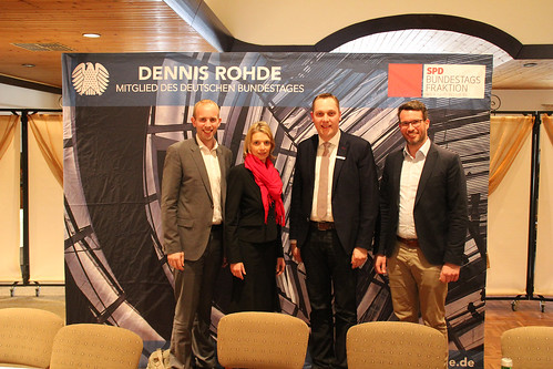 """Veranstaltung zum Thema """"Lebenswerte Heimat"""" in Godensholt m. Svenja Stadler MdB, Bürgermeister Matthias Huber und Markus Löwer (NLG)."""