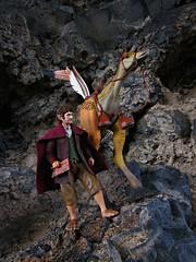 Of a Feather (Geek Creek) Tags: toys starwars actionfigures hobbits tolkien bilbo jrrtolkien hasbro thehobbit neca kaadu necabilbo