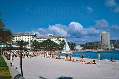 Waikiki Beachfront Hotels 1962 (Kamaaina56) Tags: beach hawaii waikiki slide 1960s