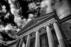 Frontenac courthouse.  (Explore) (Dan Fleury) Tags: sky blackandwhite cloud white ontario canada black architecture explore kingston limestone drama bnw ygk