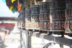 Om Prayer Wheels (Jgunns91) Tags: travel nepal travelling religious temple nikon asia peace buddhism wanderlust explore discover natgeo swayumbhunath