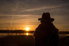 Watching the sun go down... (CarolienCadoni..) Tags: sunset sun netherlands hat silhouette sundown sony may nederland drenthe backshot lofar buinen sal2470z sonyslta99