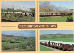 The North Yorkshire Pullman . (AndrewHA's) Tags: kitchen car post yorkshire first railway loco class steam southern card pullman postcards moors locomotive schools region 79 carriages 30926 noryh