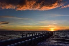 Windy sunset @ Brighton (Marian Pollock - Thanks for a million+ views) Tags: sunset beach clouds pier brighton waves windy australia melbourne victoria portphillipbay