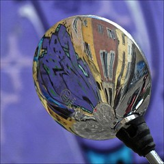 Marseille colours (me*voilà) Tags: windows reflections mirror marseille diagonal round onblue