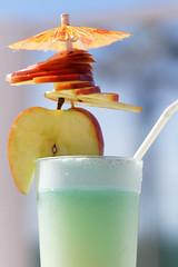 Cocktail ( Daniel V Baratu) Tags: food green apple umbrella cocktail sliced