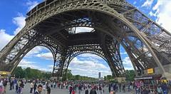 Eiffel Tower Base (AntyDiluvian) Tags: trip paris france tower eiffeltower base crowds 2015