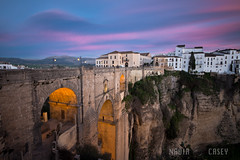Pink Clouds - Ronda, Spain (N+C Photo) Tags: world life new old travel bridge blue sunset sky espaa white holiday history tourism blanco architecture clouds rural speed puente photography town spain arquitectura nikon europe long exposure mediterranean village slow image earth pueblo culture canyon medieval andalucia structure cliffs architectural historic adventure explore spanish filter ronda cielo hour nubes nd shutter nikkor dslr andalusia malaga learn nuevo architectuur global density iberia discover espaol d800 andaluz neutral reconquista 1635f40