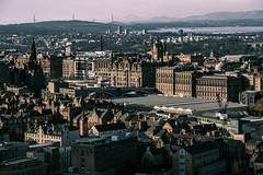 Edinburgh's sunset (Andrea Securo) Tags: road city sunset wild orange travelling skye sunrise landscape freedom scotland edinburgh live capital free visit wanderlust wilderness wintern