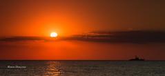 Sunset on Black sea (Roman Dergunov) Tags: sunset sea cloud sun silhouette clouds ship crimea warship  2015        lubimovka   canoneos70d canonef70200mmf28lisiiusm 2015 crimea2015