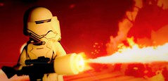 Flametrooper (hachiroku24) Tags: red photoshop toy fire star miniature warm order force lego first wars episode vii awakens flametrooper