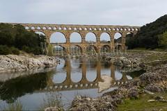 40080153 (wolfgangkaehler) Tags: bridge france water french europe european roman bridges unescoworldheritagesite aqueduct nimes pontdugard aqueducts southernfrance 2016 1stcenturyad gardonriver garddepartment