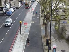 Embankment (moley75) Tags: london cyclists runner embankment waterloobridge centrallondon