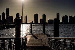 Golden (stephen_tvedt) Tags: newyorkcity sunset urban newyork silhouette skyline architecture