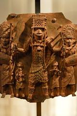 cast brass plate, Benin City, Nigeria (3) (Mr. Russell) Tags: africa england london plate nigeria benin britishmuseum brass