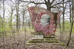 Abandoned Lenin memorial. / Verlassenes Lenindenkmal. (Sperrgebiet) Tags: lenin memorial denkmal 2016 wgt gssd