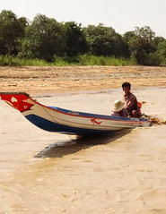Boat on Siem Reap River (C Ord) Tags: travel lake river boat cambodia sap freshwater tonl tonlsap