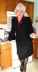 No Rant Today--I Promise (Laurette Victoria) Tags: woman kitchen silver suit milwaukee laurette