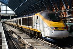 Eurostar at St Pancras Station (Mister Electron) Tags: london eurostar transport trains publictransport railways channeltunnel electrictrain highspeedtrain stpancrasstation railtravel highspeedrailtravel