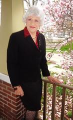 A Lady In Springtime (Laurette Victoria) Tags: woman lady silver spring suit milwaukee laurette