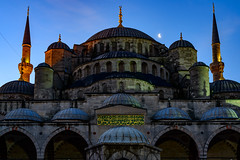 Blue Mosque - Morning Blue Hour (Aleem Yousaf) Tags: morning blue turkey 50mm photo nikon walk istanbul mosque hour sultanahmet d800