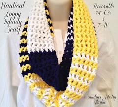 "SandraArtistryAlaska (ETSY): ""Nautical Loopy Infinity Scarf' for sale... (sandrasalaskarecipesphotographyretail) Tags: men scarf outdoors women forsale handmade infinity boating loopy accessories shawl nautical unisex attire cowl handdesigned"