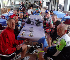 Final cafe stop. (Michael Horsfield) Tags: blackcat cycling spain alicante trainingcamp costablanca comunidadvalenciana lalfsdelpi blackcatcoaching ciclocostablanca