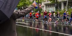 Broad Street Run, 2016 (Alan Barr) Tags: street people reflection philadelphia reflections candid streetphotography running olympus run sp runners streetphoto omd broadstreet 2016 em5 broadstreetrun