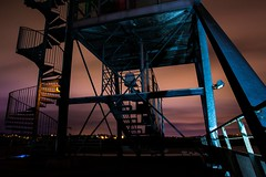 Structure (Mare Crisium) Tags: longexposure metal night iron long steel structure staircase nuit escalier acier