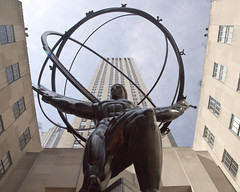 May day Atlas (back stage) Tags: nyc newyorkcity sculpture ny bronze manhattan rockefellercenter atlas leelawrie sony1650mmf28 sonyalpha77v