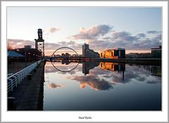 Finnieston Morning (flatfoot471) Tags: bridge urban sunrise landscape dawn scotland riverclyde unitedkingdom crane glasgow milleniumbridge normal govan 2012 finnieston theclydearc