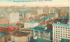 """Birds-Eye View Residence Section, Seattle, Washington"" (912greens) Tags: seattle buildings cities panoramas historic hills postcards streetscenes 1900s residences"