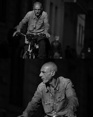 [La Mia Citt][Pedala] (Urca) Tags: portrait blackandwhite bw bike bicycle italia milano bn ciclista biancoenero mir bicicletta 2015 pedalare dittico nikondigitale ritrattostradale 822122