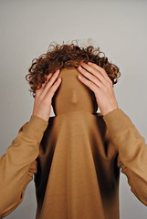 Suffocating (JoelyBoyd) Tags: portrait man male guy face fashion silhouette hair trapped hands top curly mustard turtleneck trap suffocate suffocating
