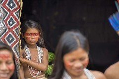 Behind the mask (umazfotos) Tags: cute eye girl look mystery forest amazon indian mysterious tribe