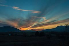 Alba in red (DarioMarulli) Tags: red sky italy panorama nature landscape nikon italia nuvola alba natura cielo rosso abruzzo laquila d3200 nikonclubit