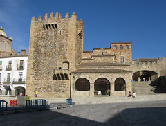 Blick ber die Plaza Mayor in Cceres (pilgerbilder) Tags: pilgern pilgerfahrt pilgertagebuch vadellaplata aldeadelcanocceres