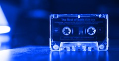 Sade in Blue (rolandmks7) Tags: blue backlight effects sade cassette cassettetape smoothoperator sideone thebestofsade sonynex5n