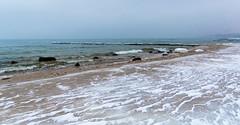 Балтика зимой (klgfinn) Tags: balticsea breakwater coast ice landscape sand sea shore sky skyline snow stone water wave winter балтийскоеморе берег вода волна волнолом волнорез горизонт зима камень лед море небо пейзаж песок снег