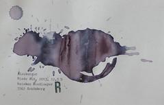 Arbeit 34 (Harald Reichmann) Tags: niederösterreich waldviertel kamptal wein blauburger 2013 riedesos visualisierung signatur kraft energie umwandlung möglichkeit text papier information