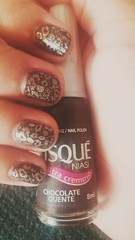 Risqué - chocolate quente ♡ (Queen the Vampire) Tags: glitter nails unhas nailart risqué beautifulnails konad unhabonita mãofeita clubedoesmalte risquédasemana unhasbr risquéoficial