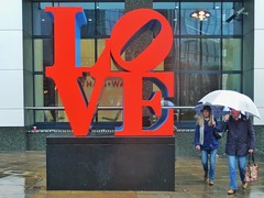 Love London Weather (Douguerreotype) Tags: street city uk red 2 england people urban london art rain umbrella britain candid gb british