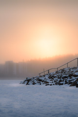 Extreme temperatures, extreme effects (tuurev) Tags: winter sun snow ice nature fog finland frost 30c